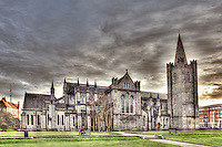 Saint Patrick's Cathedral in Dublin, also known as The National Cathedral and Collegiate Church of Saint Patrick, founded in 1191, is the largest church in Ireland, with a 43-metre (140 feet) spire.