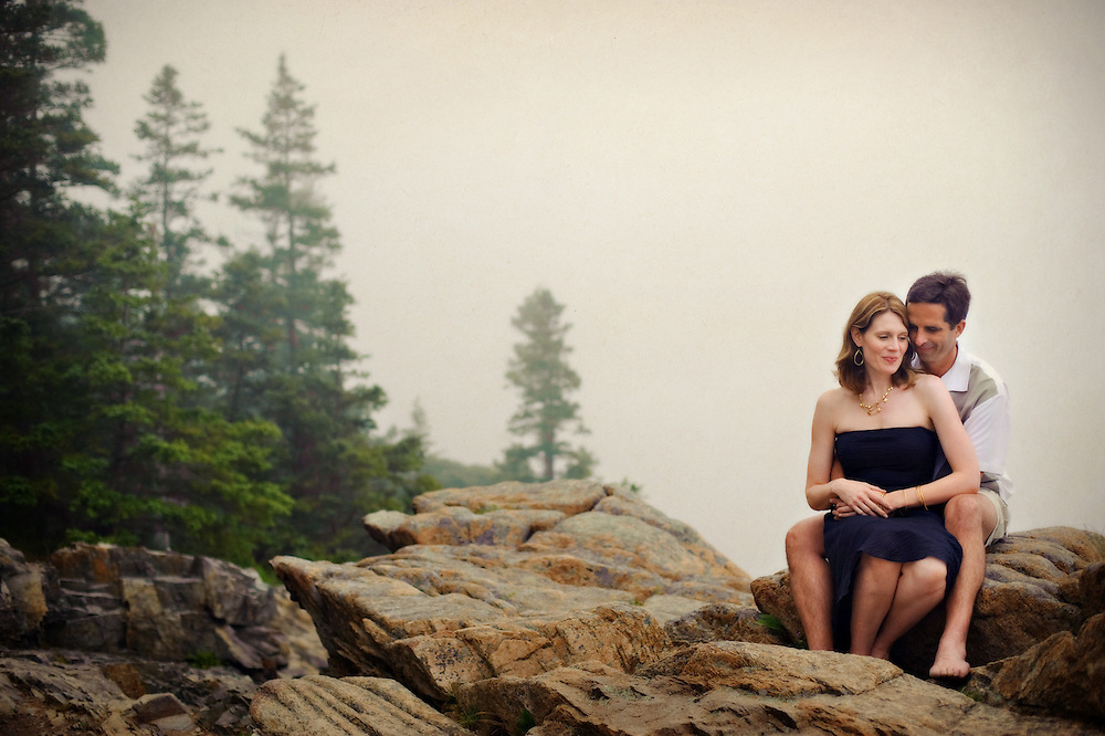 Acadia National Park engagement session.  Image by Maine Wedding Photographer, Puerto Vallarta Wedding Photographer, New York City Wedding Photographer and Philadelphia Wedding Photographer Michelle Turner.