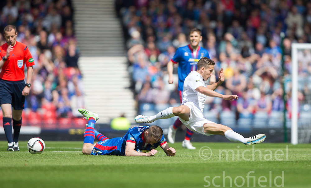 Falkirk's Will Vaulks. Falkirk 1 v 2 Inverness CT, Scottish Cup final at Hampden.