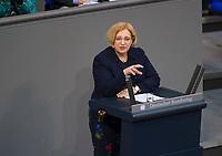 DEU, Deutschland, Germany, Berlin, 15.03.2018: Dr. Daniela De Ridder (SPD) bei einer Rede im Deutschen Bundestag.