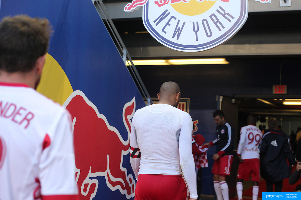 Thierry Henry, New York Red Bulls, leaves the field after his sides 3-1 loss to Columbus Crew, which could be his final game at Red Bull Arena during the New York Red Bulls Vs Columbus Crew, Major League Soccer regular season match at Red Bull Arena, Harrison, New Jersey. USA. 19th October 2014. Photo Tim Clayton