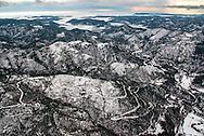 France, Languedoc Roussillon, Gard, Lozère, Cevennes, région entre Saint Etienne Vallée Française et Saint Jean du Gard, le Gardon de Mialet vue aérienne