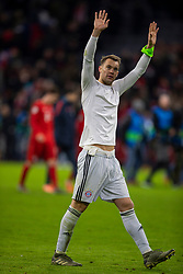 MUNICH, GERMANY - Wednesday, December 11, 2019: Bayern Munich's goalkeeper Manuel Neuer applauds the supporters after the final UEFA Champions League Group B match between FC Bayern München and Tottenham Hotspur FC at the Allianz Arena. Bayern Munich won 3-1. (Pic by David Rawcliffe/Propaganda)