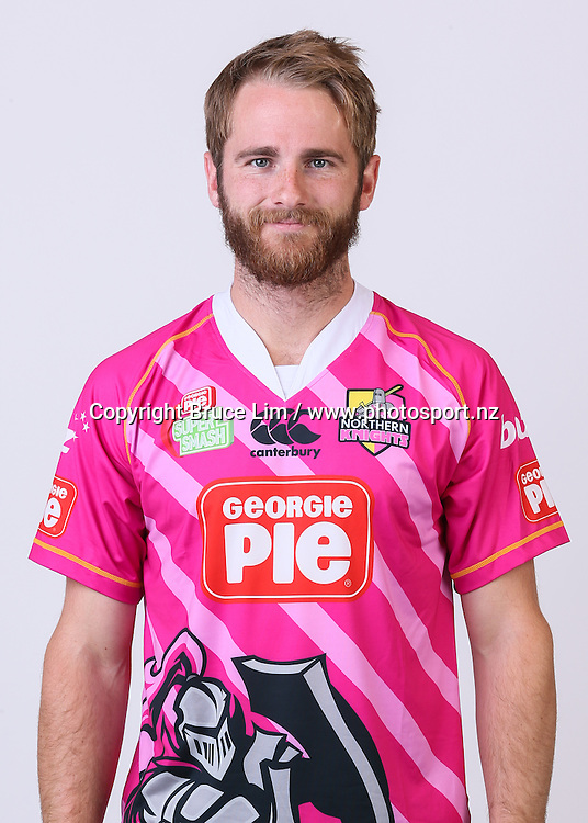 Kane Williamson - Northern Districts player headshots taken at Bay Oval, Mount Maunganui on Monday 28 September 2015.<br /> <br /> Copyright Photo:  Bruce Lim / www.photosport.nz