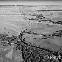 aerial image two medicine river glacier park backdrop conservation photography - blackfeet oil