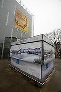 Linz, Cultural Capital of Europe 2009. Lentos Kunstmuseum. Snack bar.