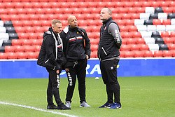 March 16, 2019 - Sunderland, Tyne and Wear, United Kingdom - Walsall manager Dean Keates (left) before the Sky Bet League 1 match between Sunderland and Walsall at the Stadium Of Light, Sunderland on Saturday 16th March 2019. (Credit: Steven Hadlow | MI News) (Credit Image: © Mi News/NurPhoto via ZUMA Press)