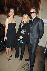Left to right, JULIE COOPER, ALICE BAMFORD and MAXILLIAN COOPER organiser of the Gumball 3000 car rally at the Royal Academy of Arts Summer Exhibition Party at the Royal Academy, Piccadilly, London on 6th June 2007.<br />