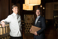 Chef Juan Bochenski heads up the restaurants  and Albert Kirby is the GM at the Fairmont Empress Hotel in Victoria, BC