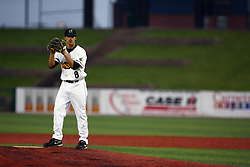 09 June 2011:  Pitcher Bobby Pritchett during a game between the Lake Erie Crushers and the Normal Cornbelters at the Corn Crib in Normal Illinois.