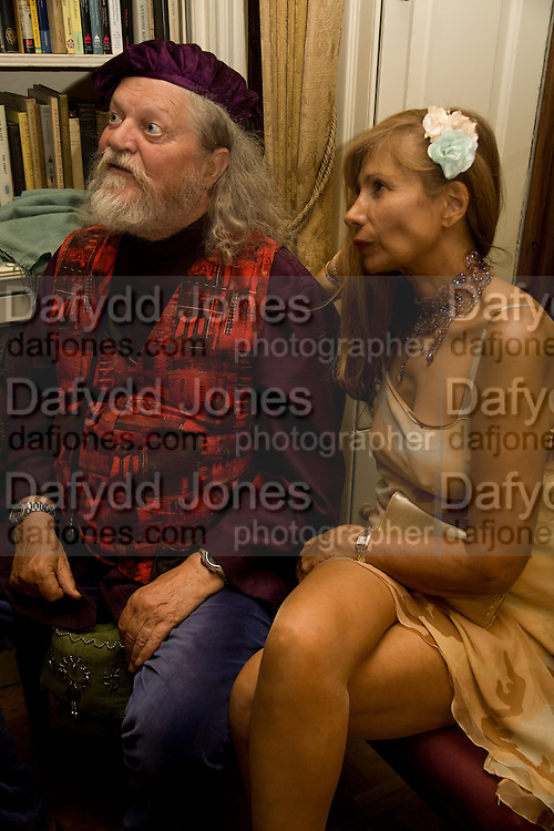 THE MARQUESS OF BATH AND TRUDIE JUGGERNAUT -SHARMA, Book launch for 'In search of the English Eccentric' by Henry Hemming. 50 Albermarle St. London. W1S 4BD *** Local Caption *** -DO NOT ARCHIVE-© Copyright Photograph by Dafydd Jones. 248 Clapham Rd. London SW9 0PZ. Tel 0207 820 0771. www.dafjones.com.