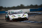 March 17-19, 2016: Mobile 1 12 hours of Sebring 2016. #27 Lawrence DeGeorge, Cedric Sbirrazzuoli, Dream Racing, Lamborghini Huracán GT3