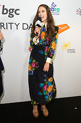 &copy; Licensed to London News Pictures. 11/09/2017. Actress KIERA KNIGHTLEY<br />  takes part in the on the annual BGC Partners Charity Day in commemoration of its 658 friends and colleagues and 61 Eurobroker employees lost in the World Trade Center attacks on 9/11. PIcture Credit: Tang/LNP