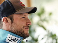 Alpint<br /> 20.10.2014<br /> Foto: imago/Digitalsport<br /> NORWAY ONLY<br /> <br /> The Norwegian ski racer Aksel Lund Svindal during press conference to his ruptured Achilles he has become withdrawn after an accident playing ball at the Hotel Vier Jahreszeiten in St. Leonhard im Pitztal, Austria