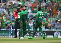 Cricket - 2019 ICC Cricket World Cup - Group Stage: South Africa vs. Bangladesh<br /> <br /> Bangladesh's Shakib Al Hasan celebrates taking the wicket of South Africa's Aiden Markram clean bowled for 45, at The Kia Oval.<br /> <br /> COLORSPORT/ASHLEY WESTERN