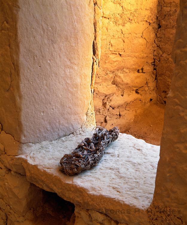 0405-1130 ~ Copyright: George H. H. Huey ~ Woven sandal. Mesa Verde National Park, Colorado.