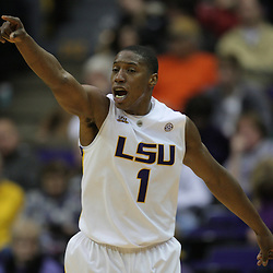 Jan 09, 2010; Baton Rouge, LA, USA; LSU Tigers forward Tasmin Mitchell (1) against the Alabama Crimson Tide during the second half at the Pete Maravich Assembly Center. Alabama defeated LSU 66-49.  Mandatory Credit: Derick E. Hingle-US PRESSWIRE