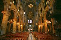 Notre Dame de Paris carhedral interior nave