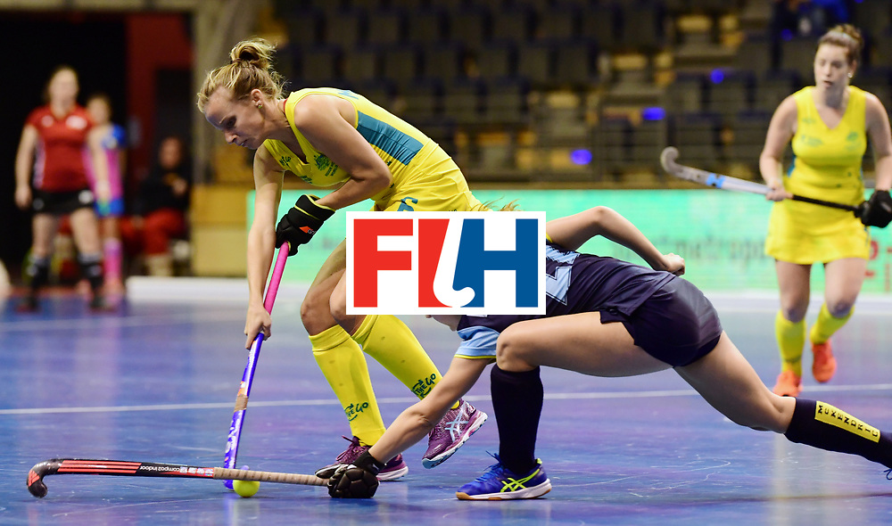 BERLIN - Indoor Hockey World Cup<br /> Women: Ukraine - Australia<br /> foto: McLEISH Emma.<br /> WORLDSPORTPICS COPYRIGHT FRANK UIJLENBROEK