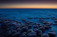 Stromatolites at twilight, Shark Bay, Western Australia