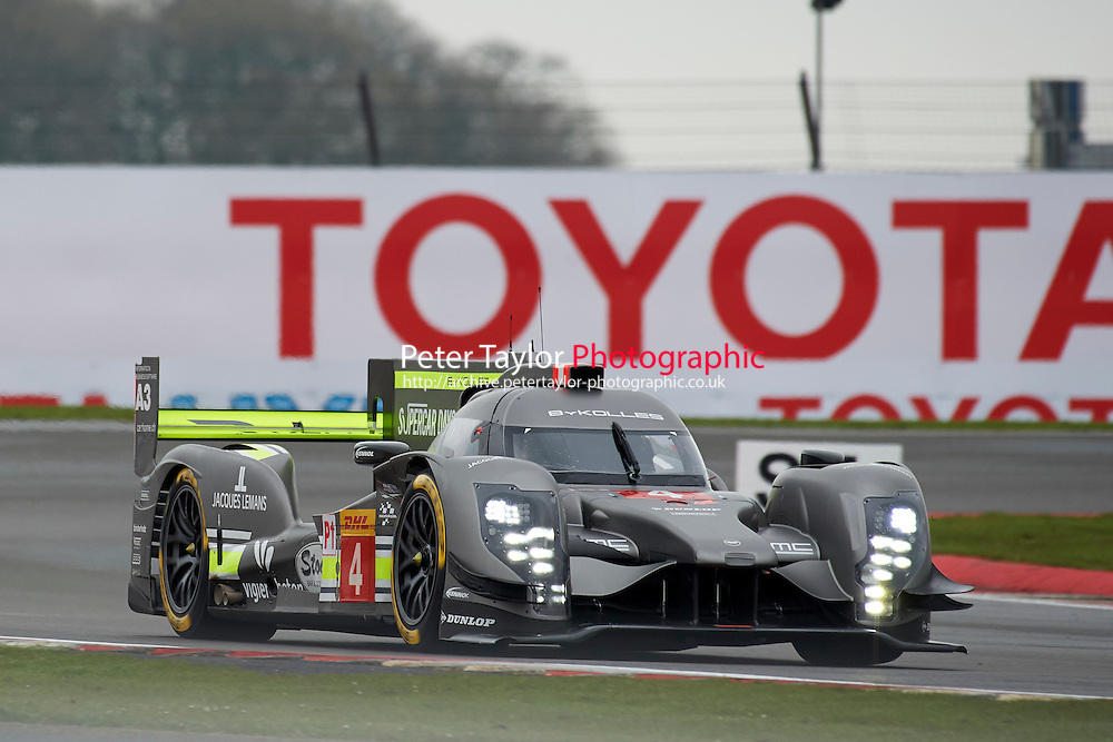 Simon Trummer (CHE) / Oliver Webb (GBR) James Rossiter (GBR)  #4 Bykolles Racing Team CLM P1/01 - AER,  at Silverstone, Towcester, Northamptonshire, United Kingdom. April 15 2016. World Copyright Peter Taylor.
