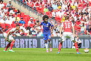 Willian during the FA Community Shield match between Chelsea and Arsenal at Wembley Stadium, London, England on 2 August 2015. Photo by Shane Healey.