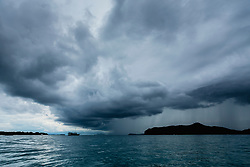 Storm Cloud over Ocean. Ko Samui, Thailand