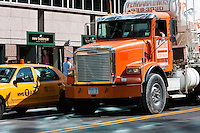 construction truck on 42nd street in New york City in October 2008