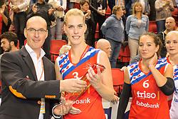 20151011 NED: Supercup VC Sneek - Sliedrecht Sport,  Doetinchem<br /> VC Sneek verslaat Sliedrecht Sport met 3-2 en pakt de eerste prijs van het seizoen /