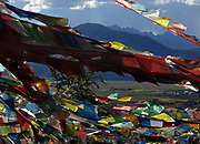 Prayer flags near Shangri-la, Yunnan, China; September, 2013.
