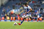 Ben Marshall of Blackburn Rovers takes a free kick during the EFL Sky Bet Championship match between Blackburn Rovers and Burton Albion at Ewood Park, Blackburn, England on 20 August 2016. Photo by Simon Brady.