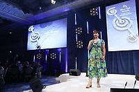 Julie Whelan on stage during O2 Silver Clef Awards 2019, Grosvenor House, London, UK, Friday 05 July 2019<br /> Photo JM Enternational