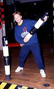 Bernard Sumner of New Order on the dancefloor of the Hacienda, Manchester 1989