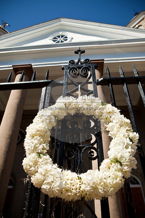 Historic First Scotts Presbyterian Church on Meeting Street in Charleston, SC.