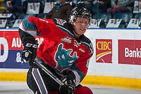 KELOWNA, CANADA - NOVEMBER 26: Jonathan Smart #6 of the Kelowna Rockets warms up against the Regina Pats on November 26, 2016 at Prospera Place in Kelowna, British Columbia, Canada.  (Photo by Marissa Baecker/Shoot the Breeze)  *** Local Caption ***