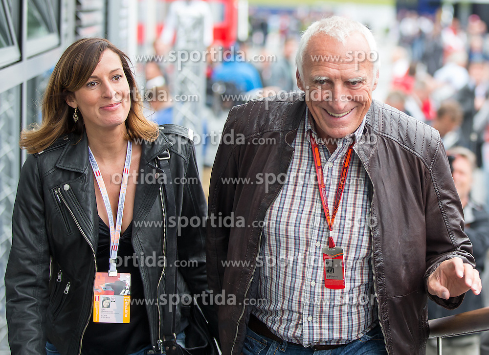 03.07.2016, Red Bull Ring, Spielberg, AUT, FIA, Formel 1, Grosser Preis von Österreich, Rennen, im Bild Dietrich Mateschitz (AUT) Red Bull Gründer und Eigentümer mit seiner lebensgefährtin Marion Feichtner // CEO and Founder of Red Bull Dietrich Mateschitz (AUT) with girlfrind Marion Feichtner before the Race for the Austrian Formula One Grand Prix at the Red Bull Ring in Spielberg, Austria on 2016/07/03. EXPA Pictures © 2016, PhotoCredit: EXPA/ Johann Groder