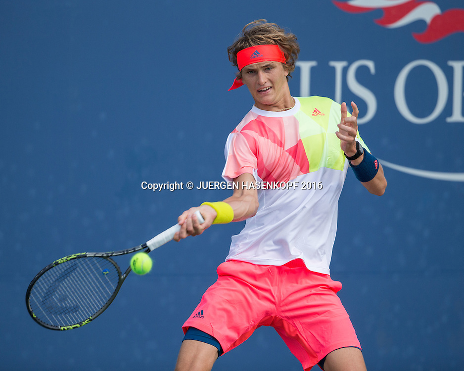 ALEXANDER ZVEREV (GER)<br /> <br /> Tennis - US Open 2016 - Grand Slam ITF / ATP / WTA -  USTA Billie Jean King National Tennis Center - New York - New York - USA  - 30 August 2016.