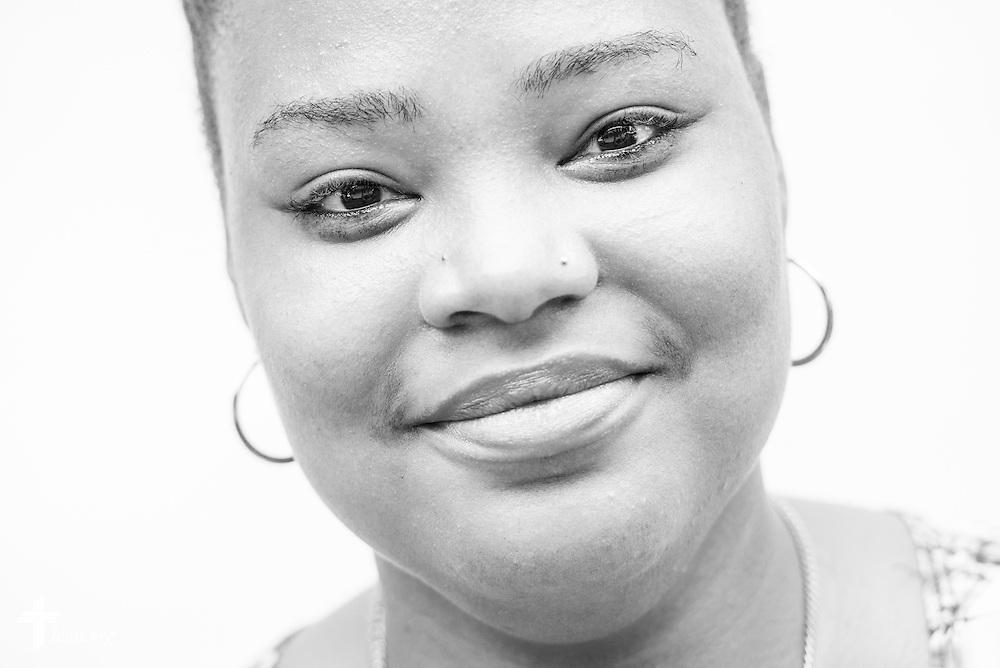 Eyes of Life portrait of Jasmine White, at Shepherd of the City Lutheran Church on Thursday, Aug. 25, 2016, in Philadelphia. LCMS Communications/Erik M. Lunsford