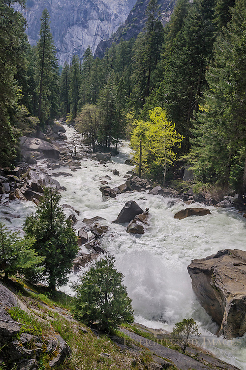 Merced River below Vernal Falls and above Yosemite Valley, Yosemite National Park, California