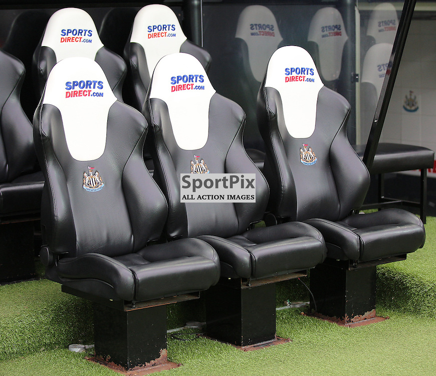 Newcastle United v Chelsea English Premiership 26 September 2015; The Newcastle hot seat before the Newcastle v Chelsea English Premiership match played at St. James' Park, Newcastle; <br /> <br /> &copy; Chris McCluskie | SportPix.org.uk