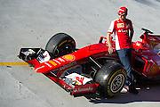 September 3-5, 2015 - Italian Grand Prix at Monza: Sebastian Vettel (GER), Ferrari on the monza banking.