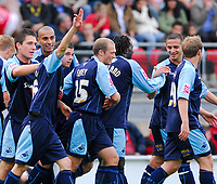 Photo: Leigh Quinnell.<br /> Leyton Orient v Swansea City. Coca Cola League 1. 06/10/2007. Swanseas Paul Anderson salutes the fans after scoring his teams fourth goal.