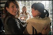 LUCY HODGE; CAROLINE DENNISH, Opening of the Trouble Club., Lexington St. Soho London. 6 November 2014