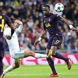 Moussa Sissoko of Tottenham Hotspur in action during Uefa Champions League (Group H) match between Real Madrid and Tottenham Hotspur at Santiago Bernabeu Stadium on October 17, 2017 in Madrid  (Spain) (Photo by Luis de la Mata / SportPix.org.uk)