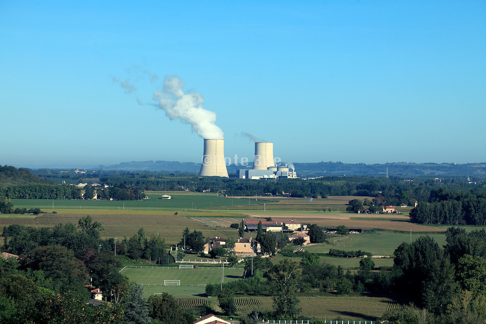 the nuclear electricity power plant Golftech in Garonne France