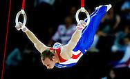 MONTPELLIER - Yuri van Gelder in actie aan de ringen bij de Europese kampioenschappen turnen in Montpellier. Van Gelder werd vierde. ANP ROBIN UTRECHT