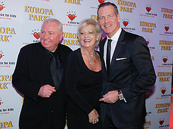 11.01.2014, Ballsaal Berlin Europapark, Rust, GER, 50 Jahre Henry Maske, Roter Teppich zum 50. Geburtstag von Henry Maske, im Bild Ulli Wegner and wife Margret and Henry Maske (left to right) // Ulli Wegner and wife Margret and Henry Maske (left to right) during red carpet to 50th Birthday of Henry Maske at Ballsaal Berlin Europapark in Rust, Germany on 2014/01/11. EXPA Pictures © 2014, PhotoCredit: EXPA/ Photoshot/ Mandoga Media<br /> <br /> *****ATTENTION - for AUT, SLO, CRO, SRB, BIH, MAZ only*****