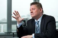 03 NOV 2009, BERLIN/GERMANY:<br /> Hermann Groehe, CDU Generalsekretaer, waehrend einem Interview, in seinem Buero, Konrad-Adenauer-Haus<br /> IMAGE: 20091103-02-022<br /> KEYWORDS: Hermann Gröhe