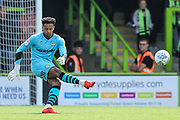 Forest Green Rovers goalkeeper Joe Wollacott(13) during the EFL Sky Bet League 2 match between Forest Green Rovers and Newport County at the New Lawn, Forest Green, United Kingdom on 31 August 2019.