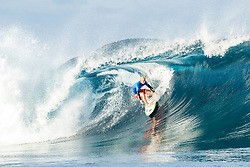 Aug 12, 2017 - Teahupo'o, French Polynesia, Tahiti - Nat Young of the USA, current No.34 on the Jeep Leaderboard advanced to Round Three of the Billabong Pro Tahiti after defeating rookie Frederico Morais of Portugal in Heat 5 of Round Two. (Credit Image: © Kelly Cestari/World Surf League via ZUMA Wire)